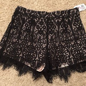 Lace black shorts